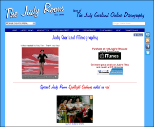 Judy Garland Filmography Page on The Judy Room