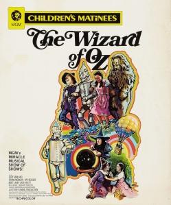 1970 Wizard of Oz Window Card