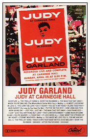 Judy at Carnegie Hall on Cassette