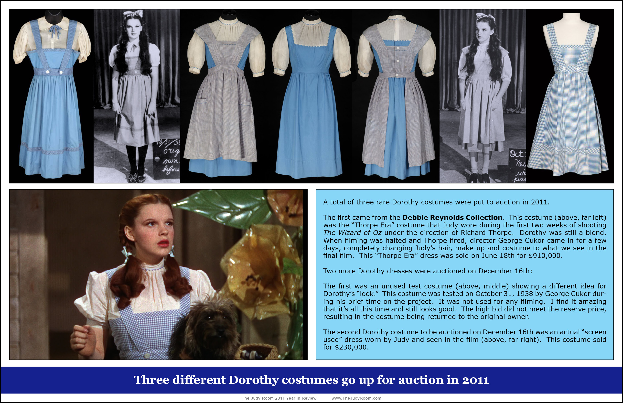 "Dorothy"" Costumes through the Years 