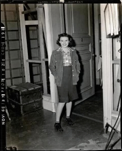 "Judy Garland on the set of ""Everybody Sing"""