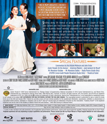 Judy Garland & Fred Astaire in Easter Parade - Blu-ray back cover art