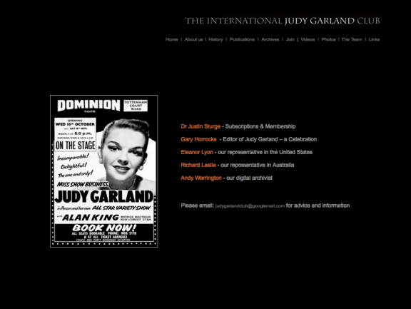 Judy Garland Club Screenshot