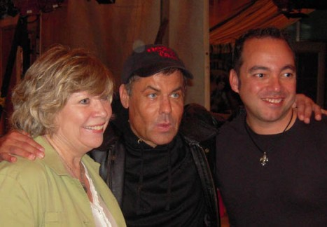 Jan Glazier with Steven Sanders and Frankie Labrador