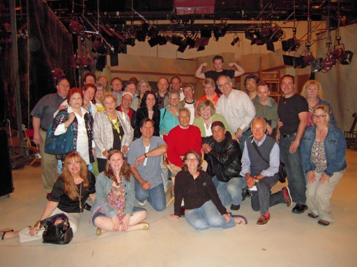 """""""Judy in Hollywood"""" group at CBS with George Sunga"""