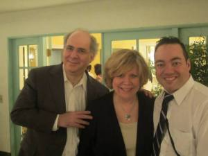 """Richard & Jan Glazier with Frankie Labrador at the """"Judy in Hollywood"""" event"""
