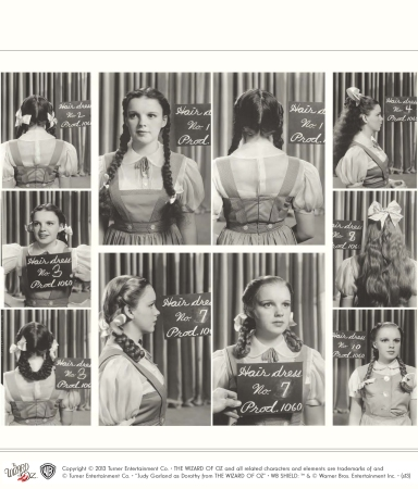 Judy Garland as Dorothy Gale hair, costume, and makeup tests - The Wizard of Oz