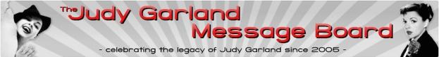 The Judy Garland Message Board header