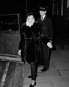 Judy Garland at the Ritz Hotel in London New Year's Eve 1969