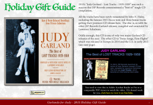 """Garlands for Judy"" 2015 Judy Garland Holiday Gift Guide"