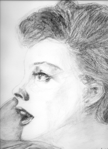 Judy 1962 Original charcoal by Bill Biss