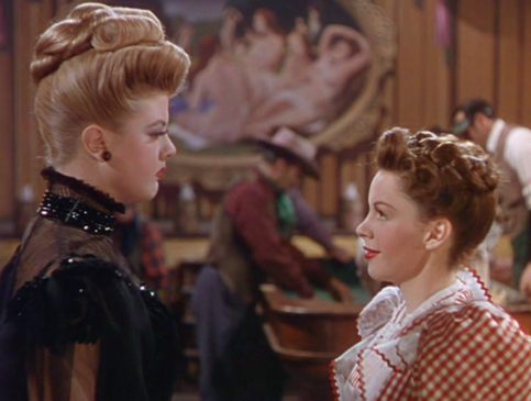 "Judy Garland and Angela Lansbury in ""The Harvey Girls"""