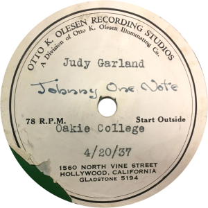 """Judy garland sings """"Johnny One Note"""" April 20, 1937"""