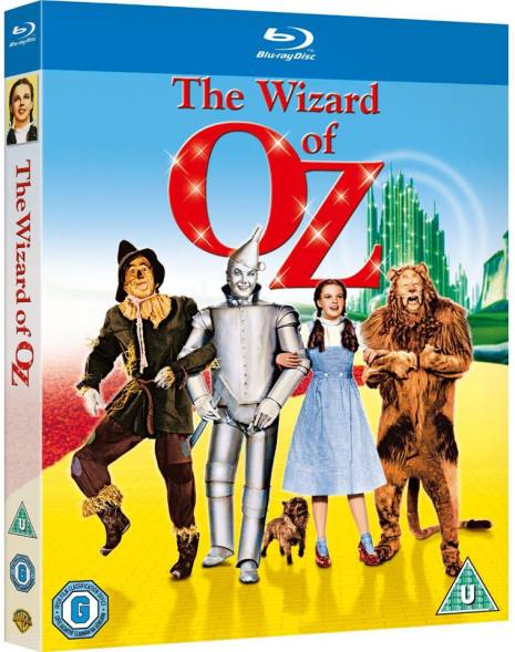 UK Blu-ray of The Wizard of Oz released on April 14, 2013 starring Judy Garland