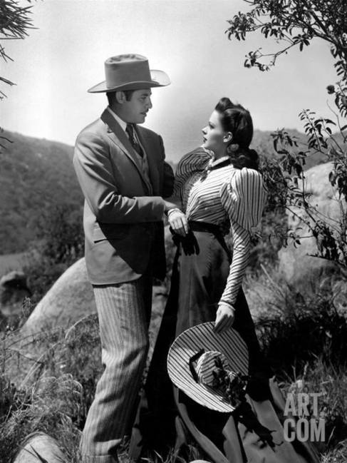 "Judy Garland and John Hodiak in ""The Harvey Girls"""