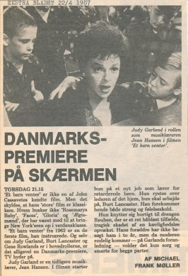 "Ekstra Bladet - ""A Child is Waiting"" on Danish TV."