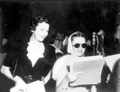 Judy Garland and Fanny Brice