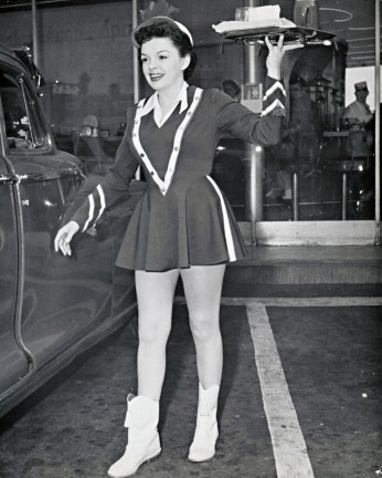 "Judy Garland as a carhop in ""A Star Is Born"""