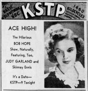 "Judy Garland on ""The Pepsodent Show starring Bob Hope April 9, 1940"