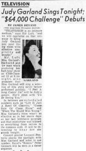 Judy Garland 1956 TV Special