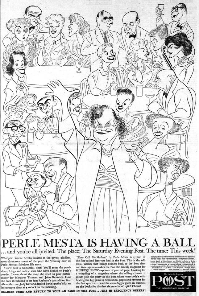 Perle Mesta is having a ball - Judy Garland