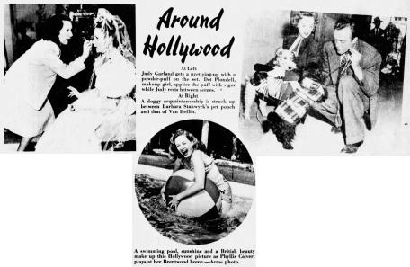 Dottie Ponedel and Judy Garland
