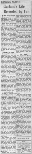 Judy Garland Wayne Martin Los Angeles Times article about Wayne Martin April 13, 1963