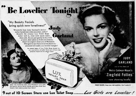 April 15, 1946, Lux Toilet Soap ad published in the Los Angeles Times