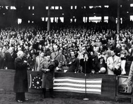 April 21, 1939 Cleveland Indians-Tigers opening game