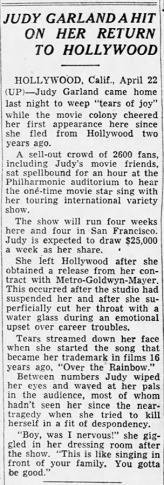 Judy Garland returns to Hollywood at the Los Angeles Philharmonic