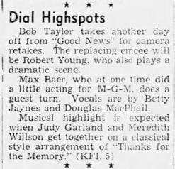 Judy Garland on the Good News Radio program April 28, 1938