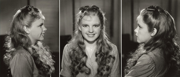 "April 28, 1938 - Judy Garland tests wig and makeup for ""The Wizard of Oz"""