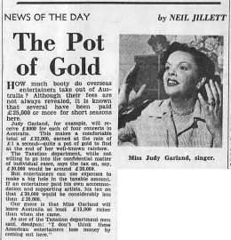 "Judy Garland in Australia by Neil Jillett of ""The Age"""