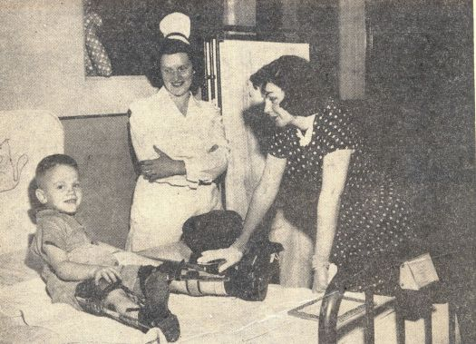 Judy Garland at the Shriners Hospital in Lexington, KY