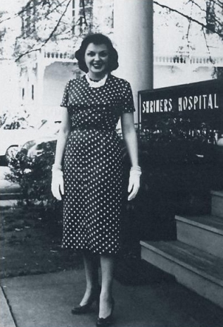 Judy Garland at the Shriner's Children's Hospital in Lexington, Kentucky