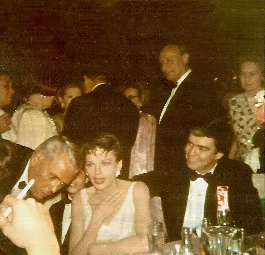 Judy Garland with Desi Arnaz Sr. and Tom Green