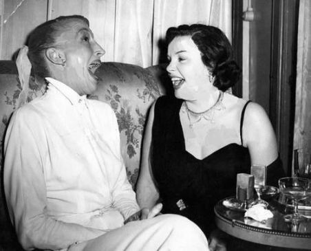 April 9, 1951 Kay Thompson laughing London 1951 Palladium