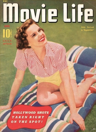 Judy Garland on the cover of Movie Life magazine April 1941