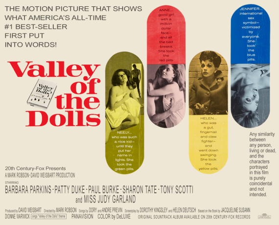 "Faux ""Valley of the Dolls"" poster with Judy Garland as Helen Lawson"