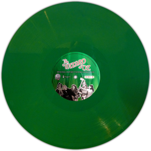 """The Wizard of Oz"" April 19, 2014 green vinyl edition starring Judy Garland"