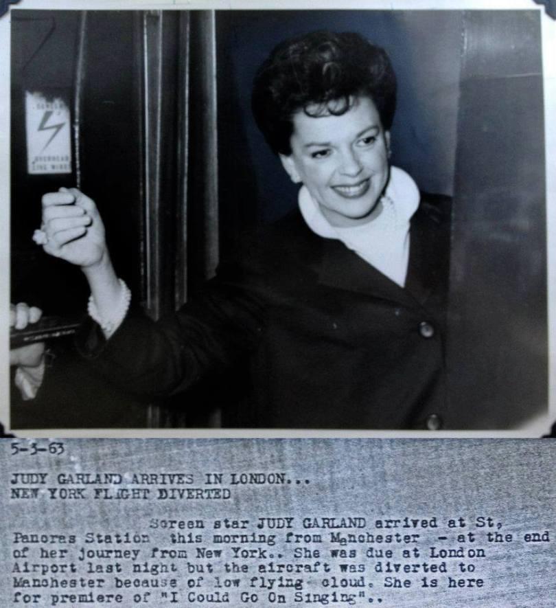 Judy Garland in London, May 3, 1963