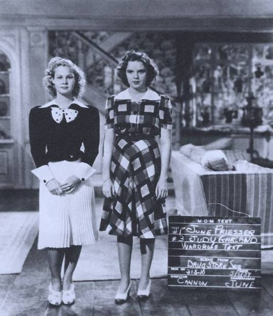 "Judy Garland and June Priesser - wardrobe test for ""Babes in Arms"" 1939"