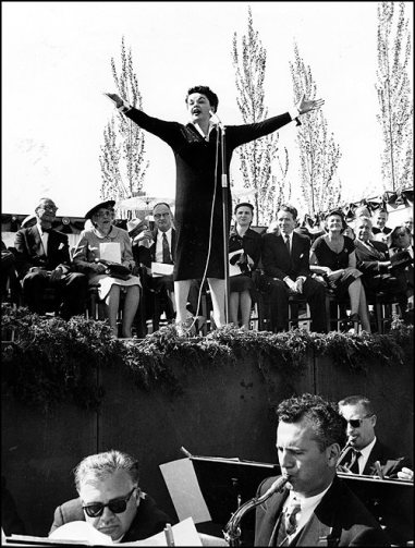Judy Garland at the Minnesota Centennial celebration in Minneapolis May 11, 1959