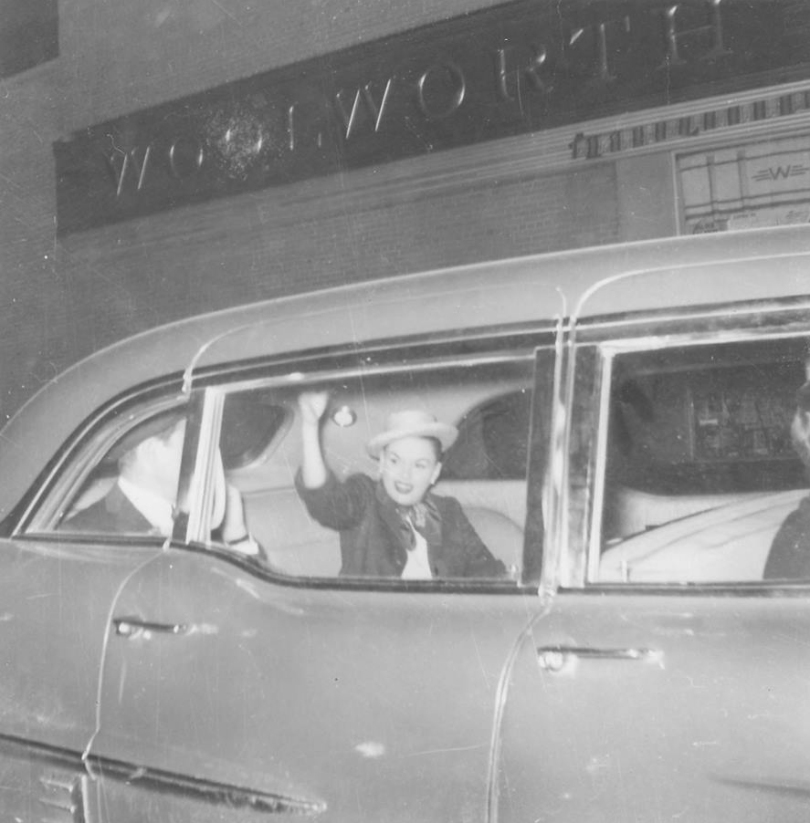 May 30, 1957 Detroit waving goodbye
