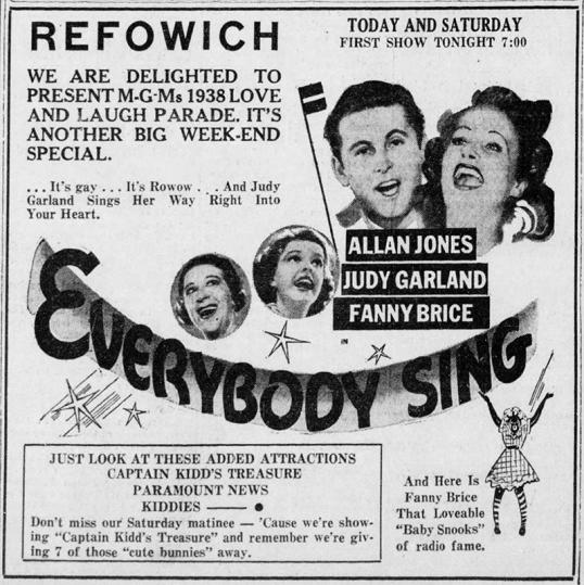 """'Everybody Sing"""" Judy Garland"""