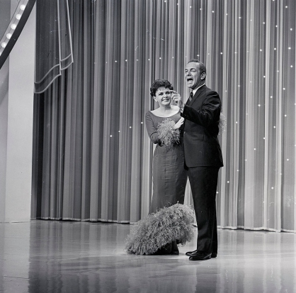 "Judy Garland and Jack Carter on ""The Hollywood Palace"" TV Show"