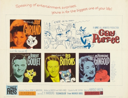 Gay Purr-ee Half Sheet - starring Judy Garland
