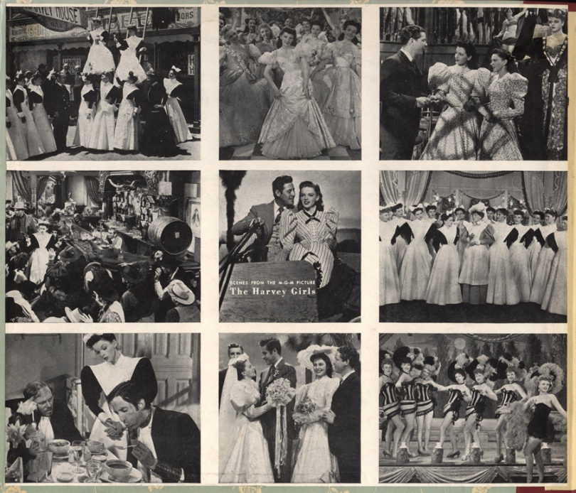 "Inside photos featured ""The Harvey Girls"" Decca cast album"