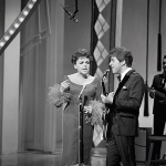 "Judy Garland and Johnny Rivers on ""The Hollywood Palace"" 1966"