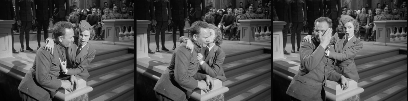 """Judy Garland kisses a soldier in """"For Me And My Gal"""" 1942"""